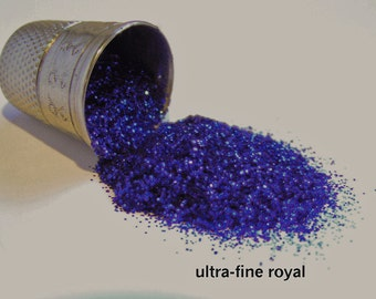 glitter - royal blue ultra-fine polyester