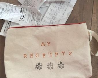 Receipt Organizer Bag