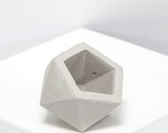 Mini Concrete Geometric Ico Plain