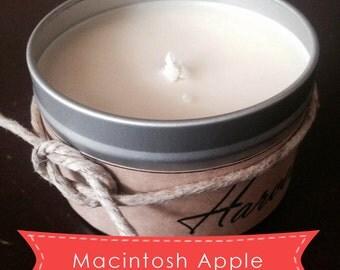Macintosh Apple - Soy Candle - 8oz Tin