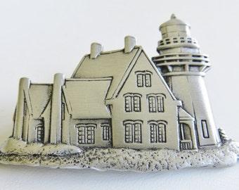 JJ Jonette Guiding Light Lighthouse Brooch Pin