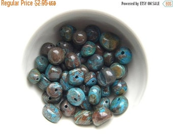 SALE 10 Blue Crazy Lace Agate Nugget Beads