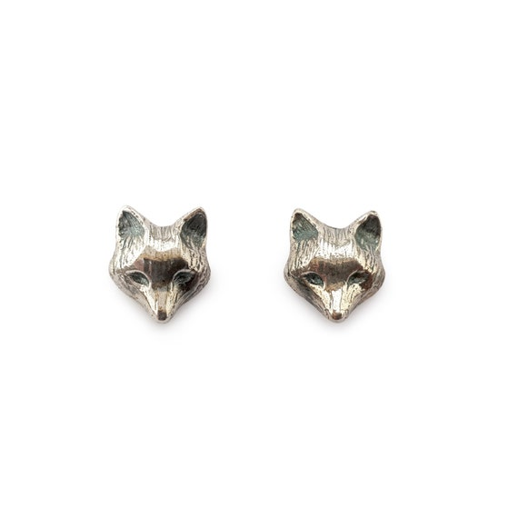 Fox Earrings in Sterling Silver