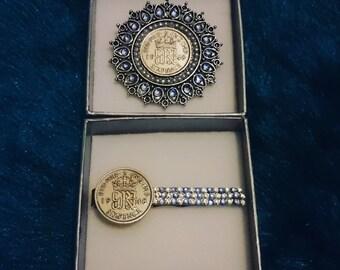 His 'n' Hers Bride & Groom Sixpence Gift Set