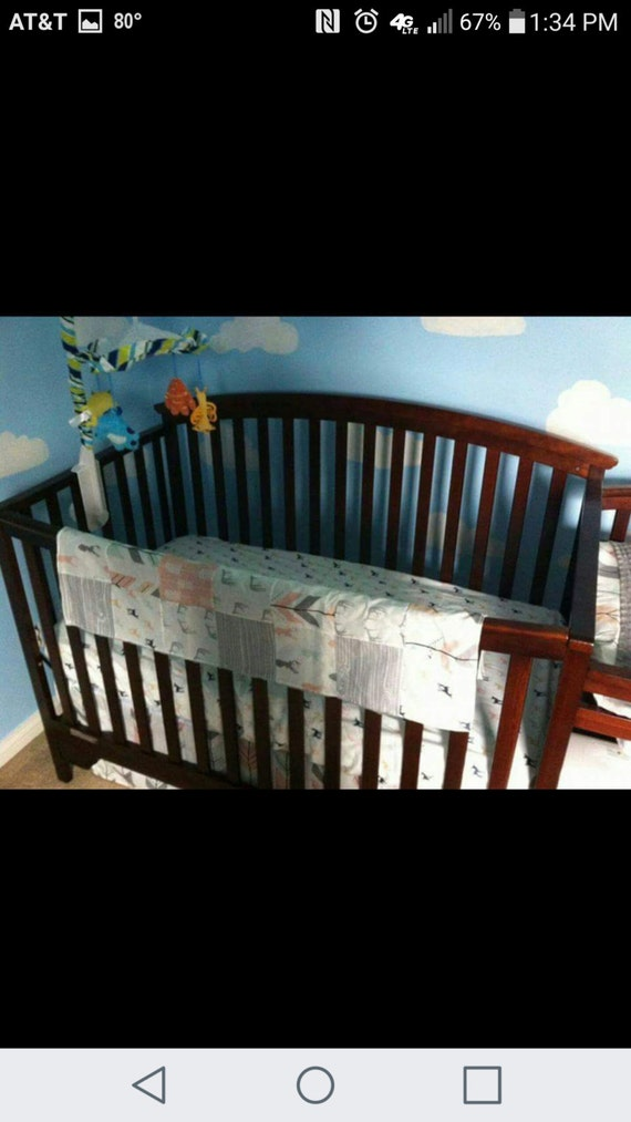 Woodland Deer Baby Girl Crib Bedding Set By