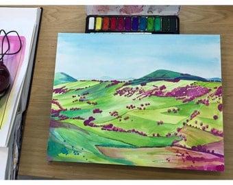 Original Painting, Derbyshire Hills II