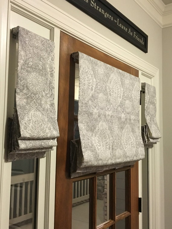 Custom Made Flat Front Roman Shade Window Treatments For Your