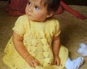 Vintage Crochet Pattern  Baby Girls Party Dress  Summer