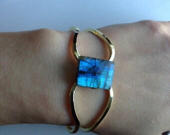 labradorite bracelet labradorite cuff bracelet flashy labradorite bracelet