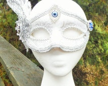 silver and blue mask, sexy mask, silver mask, cobalt blue jeweled mask, ladies mask, mardi gras 2016, sexy ladies mask, fat tuesday costume