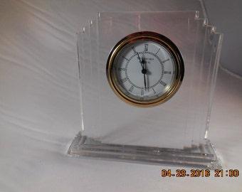 Waterford crystal mantle clock.