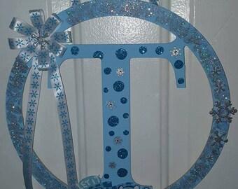 Monogram Christmas wreaths