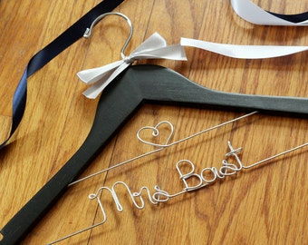 Add a Line to Your Bridesmaid or Bride Hanger