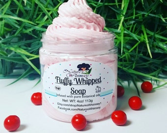 Whipped Soap - Cranberry Cosmo, fluffy whipped soap, creamy soap, Whipped Soap Cream Fluff, Whip Soap, Soap in a Jar, Summertime, Bath Soap