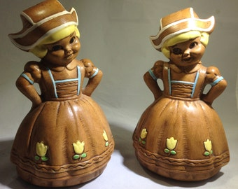 Matching Set of Twin Winton Salt and Pepper Shakers - Circa 1950s - Made in California