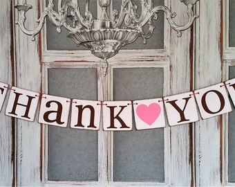 Thank You BANNERS WEDDING SIGNS Rustic Wedding Decorations Wedding Banners