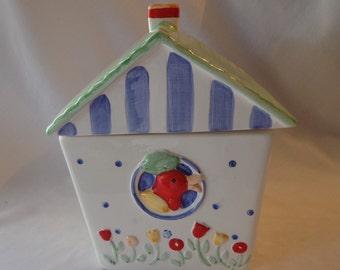 COOKIE JAR ~  Birdhouse, Coco Dowley, Green roof