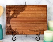 Personalized Cutting Board,  Custom Cutting Board, Tree Cutting Board, Wedding Gift, Anniversary Gift, Wedding Shower Gift, 5th Anniversary