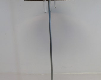 Mid Century Modern Floor Lamp Brushed Aluminum Metal Mesh Mosaic Multicolor