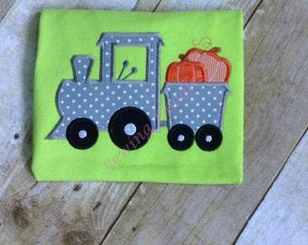 Pumpkin Trian Appliqued T-shirt