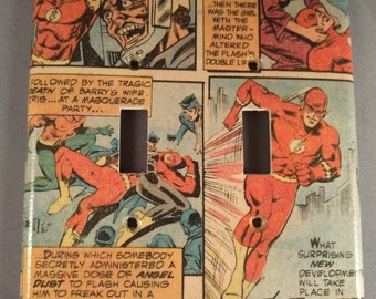 The Flash double toggle comic book light switch cover