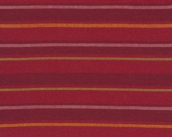 ALTERNATING STRIPE  RED  Woven Stripe Kaffe Fassett Sold in 1/2 yard increments