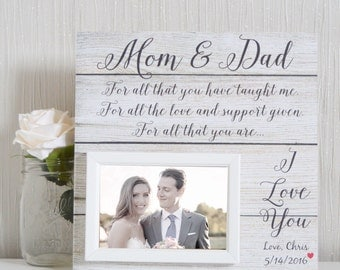 Parents Of The Bride - Mother Of The Bride Gift - Mother Of The Groom Gift - Parents Of The Groom Gift - Parents Thank You Wedding Gift