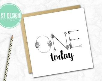 One Today Arrow Birthday Card