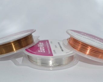 4 metres Artistic Copper Wire, 1mm Wire, 18 Gauge Wire, Tarnish Resistant, Wrapping Wire, Jewellery Wire, Bronze, Silver, Gold, UK Seller