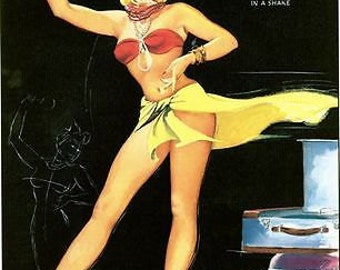 1950's Pin Up Poster 46 A3/A2/A1 Print
