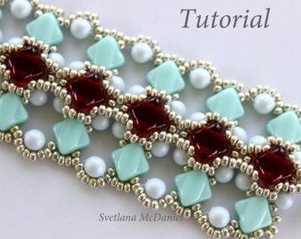 PDF Tutorial_Sliky Beads Bracelet_Swarovski pearls_beadweaving