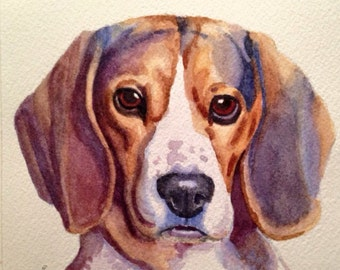 Custom Watercolor Pet Portrait! -Dog - Cat - Illustration-painting-gift- your own photos - Pet Memorial - Pet Loss - Dog Lover - New Year