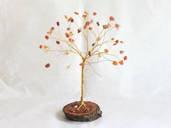 Gifts For 17th Wedding Anniversary: 17th Wedding Anniversary Gift Carnelian Wire Tree Sculpture
