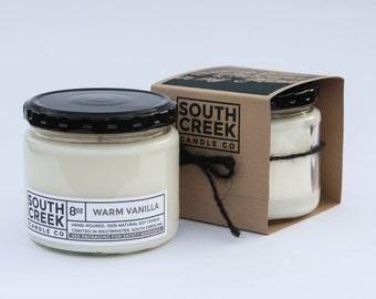 Natural Soy Candle   Warm Vanilla   8oz