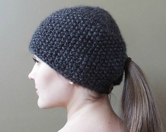 PATTERN for Ponytail Hat - instant download