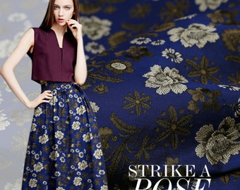 "Brocade fashion fabric bitter skirt coat dust fabric jacquard fabric - 160 cm wide x 50 cm(63""x19"") -XYS"