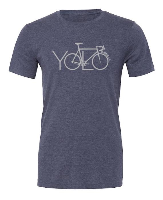 yolo davis ca bike unisex t shirt yolo bike tshirt