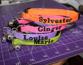 "1/2"" wide Plastic Buckle Collars with You're Pet's Name on them"
