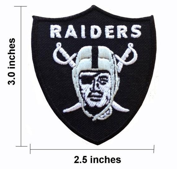 NFL Raiders Iron On Patches Embroidered Patch by noieasyshop