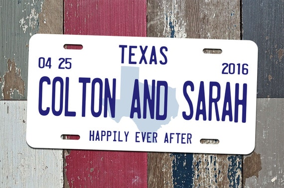 Personalized License Plate Just Married Mr Mrs Bride