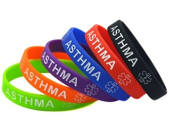1 PC Asthma Awareness Silicone Wristband Bracelet