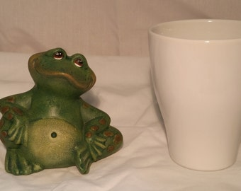 Hand-Painted Ceramic Frog