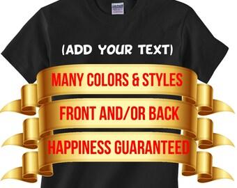 Custom Kids T-Shirt - Custom Youth T-Shirt - Personalized Kids Shirt - Personalized Youth Shirt - Make your own youth t-shirt