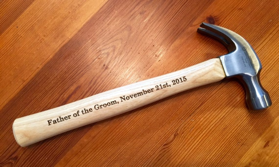 Wedding Gift Hammer : ENGRAVED HAMMER. Wedding Hammer Father of the Bride Gift, Father of ...