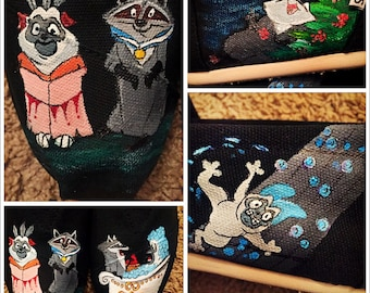 Custom painted Pocahontas (Percy & Meeko) Toms. Designed and personalized just for you!