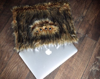 Furry Brown Monster Laptop Sleeve