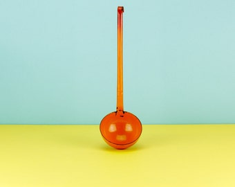 Vintage Orange Enamel French Ladle