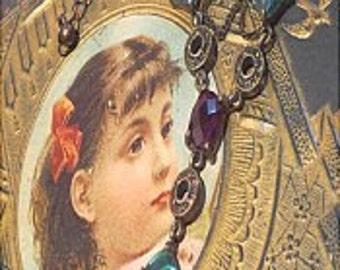 Jeweled vintage costume necklace