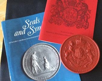 Rare Royal Great Wax Seal of South Carolina