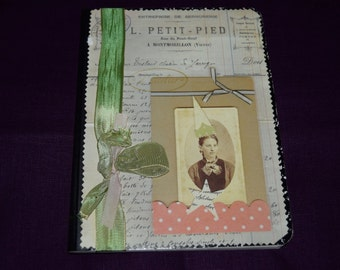 Found Cat Anna Corba Lined Journal -  Embellished - Petit Pied